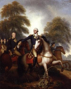 Famous paintings of Domestic Animals: Washington Before Yorktown