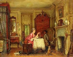 Reproduction oil paintings - Edward Lamson Henry - Drafting the Letter