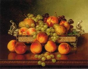 Still Life with Peaches and a Silver Dish