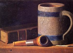 Still Life with Mug, Pipe and Book