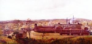 Reproduction oil paintings - Edward Lamson Henry - The Butler Hard Rubber Factory
