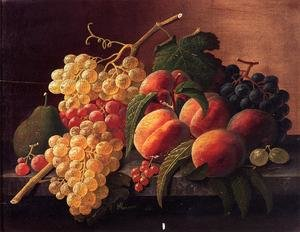 Still Life with Peaches, Grapes and a Pear