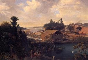 Reproduction oil paintings - Fitz Hugh Lane - Lanesville, the Mill