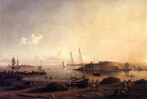Reproduction oil paintings - Fitz Hugh Lane - Gloucester Harbor II