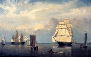 Reproduction oil paintings - Fitz Hugh Lane - Salem Harbor