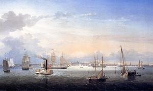 Reproduction oil paintings - Fitz Hugh Lane - Boston Harbor I