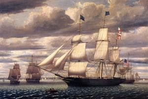 Reproduction oil paintings - Fitz Hugh Lane - Clipper Ship 'Southern Cross' Leaving Boston Harbor