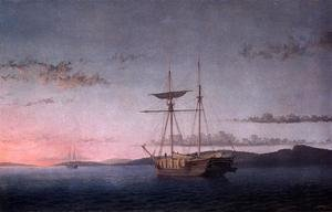 Reproduction oil paintings - Fitz Hugh Lane - Lumber Schooners at Evening on Penobscot Bay