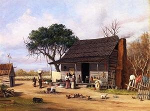 Famous paintings of Africa: Cabin Scene