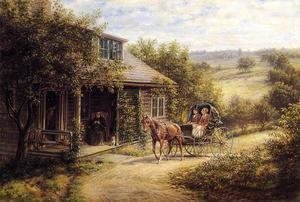 Reproduction oil paintings - Edward Lamson Henry - Unexpected Visitors
