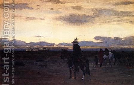 Intruder on the Plains by Henry Farny - Reproduction Oil Painting