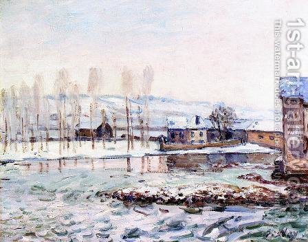 The Mills at Moret by Alfred Sisley - Reproduction Oil Painting