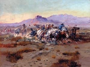 Famous paintings of Wild West: The Attack