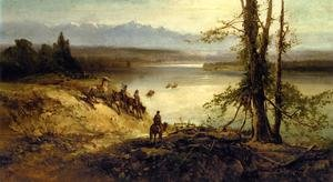 Reproduction oil paintings - Andrew Melrose - Sioux Tribe on the Platte River