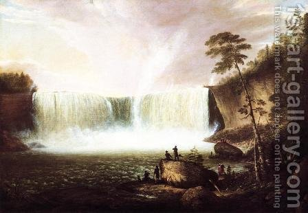 View of Niagara Falls (no.1) by Alvan Fisher - Reproduction Oil Painting