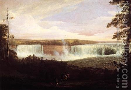 View of Niagara Falls (no.2) by Alvan Fisher - Reproduction Oil Painting
