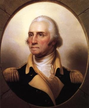 Famous paintings of Portraits: Portrait of George Washington I