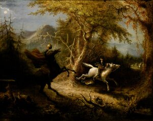 Famous paintings of Horses & Horse Riding: The Headless Horseman