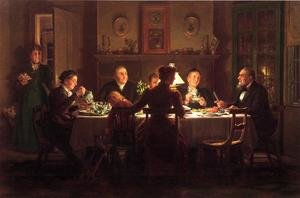 Reproduction oil paintings - Edward Lamson Henry - Village Squire Entertaining the New Minister