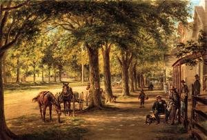 Reproduction oil paintings - Edward Lamson Henry - The Village Street