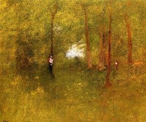 Reproduction oil paintings - George Inness - Woodland Interior
