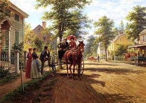 Reproduction oil paintings - Edward Lamson Henry - One Sunday Afternoon