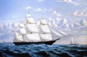 Reproduction oil paintings - William Bradford - Clipper Ship 'Northern Light' of Boston