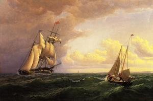 Reproduction oil paintings - William Bradford - Whaler off the Vineyard - Outward Bound
