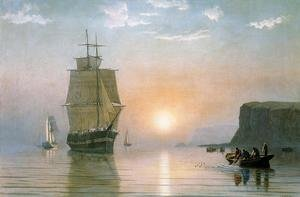 Reproduction oil paintings - William Bradford - Sunrise off Grand Manan
