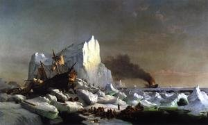 Reproduction oil paintings - William Bradford - Sealers Crushed by Icebergs