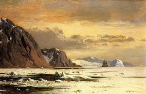Famous paintings of Ice: Seascape with Icebergs