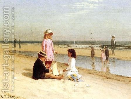 Children on the Beach I by Samuel S. Carr - Reproduction Oil Painting
