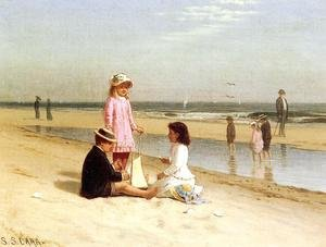 Reproduction oil paintings - Samuel S. Carr - Children on the Beach I