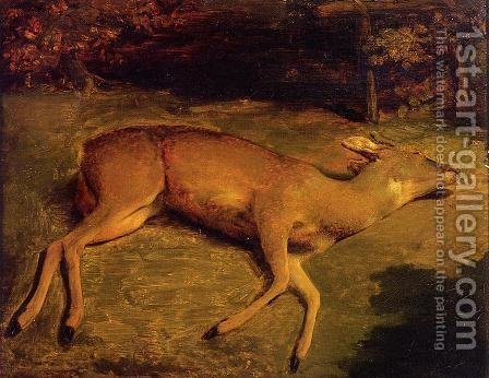 Dead Deer by Gustave Courbet - Reproduction Oil Painting