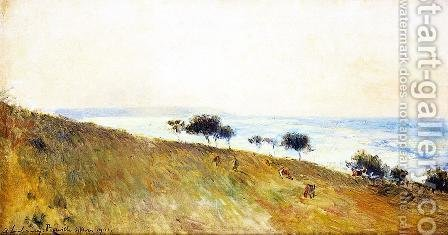 View of Berville-sur-Mer by Albert Lebourg - Reproduction Oil Painting