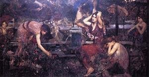 Reproduction oil paintings - Waterhouse - Sketch for 'Flora and the Zephyrs'