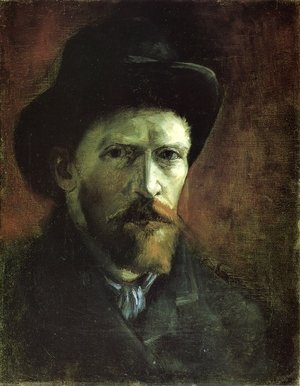 Reproduction oil paintings - Vincent Van Gogh - Self Portrait in a Dark Felt Hat