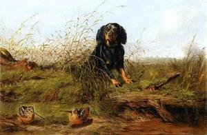 Reproduction oil paintings - Arthur Fitzwilliam Tait - Cocker Spaniel and Woodcock