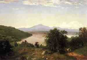 Reproduction oil paintings - John Frederick Kensett - Camels Hump from the Western Shore of Lake Champlain