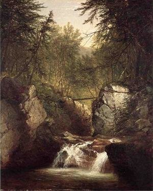 Reproduction oil paintings - John Frederick Kensett - Bash Bish Falls 2