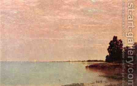 John Frederick Kensett: Long Neck Point from Contentment Island, Darien, Connecticut - reproduction oil painting