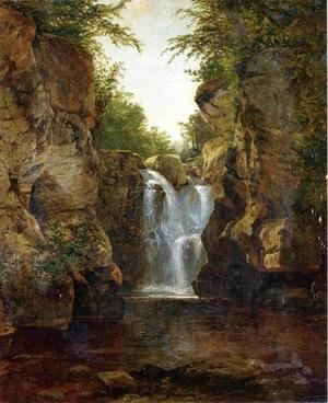 Reproduction oil paintings - John Frederick Kensett - Bash Bish Falls I