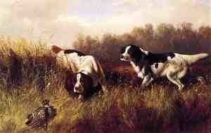 Reproduction oil paintings - Arthur Fitzwilliam Tait - Prarie Shooting: Find Him