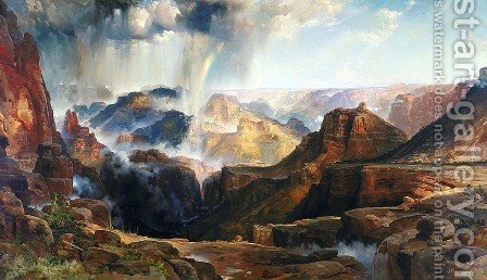 Thomas Moran: Chasm of the Colorado - reproduction oil painting