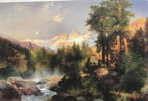 Famous paintings of Clouds & Skyscapes: The Three Tetons