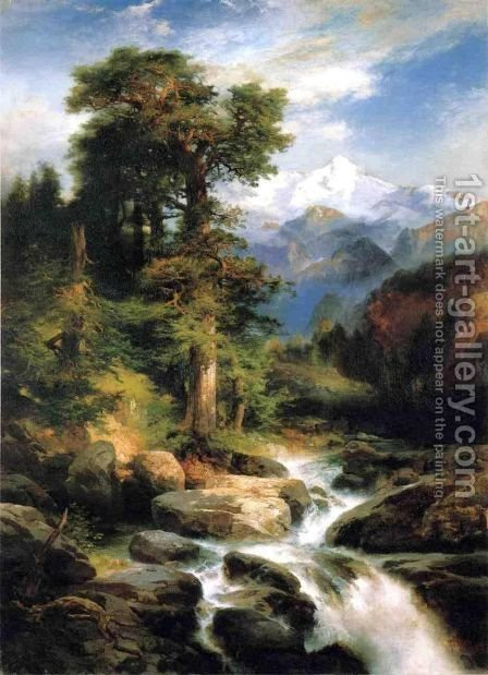Solitude by Thomas Moran - Reproduction Oil Painting
