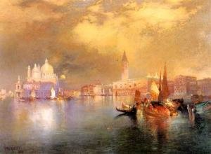 Famous paintings of Ports: Moonlight in Venice