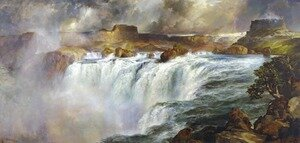 Reproduction oil paintings - Thomas Moran - Shoshone Falls on the Snake River