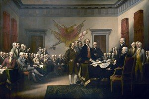 Famous paintings of People: The Declaration of Independence