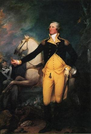 Famous paintings of Horses & Horse Riding: George Washington before the Battle of Trenton